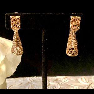 Jewelry - 5/$25 Antique Filagree Dangle Screw Post Earrings